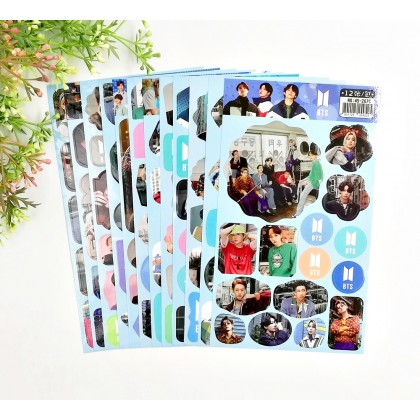 BTS Photo Stickers (12sheets) BE DYNAMITE