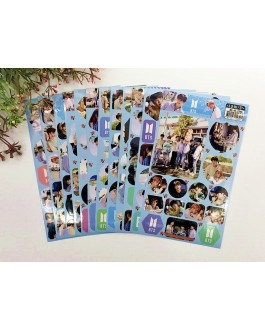 BTS Photo Stickers (12sheets)
