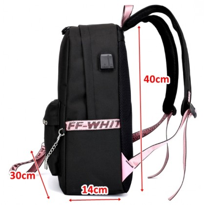 BTS Backpack School Bag with USB charge
