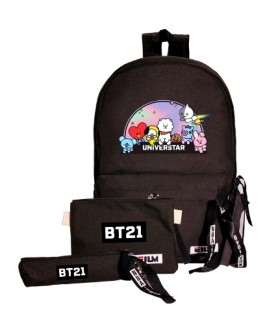 BT21 Backpack School Bag (3pcs)
