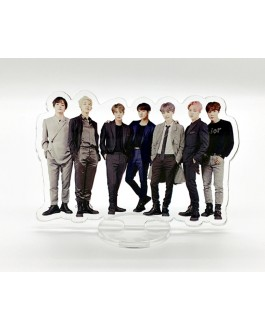 BTS Acrylic Stand Figure Model Plate Holder