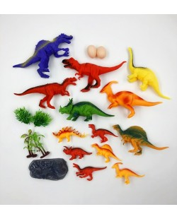 Jurassic World Dinosaur Figure Set 20 pcs Simulation Kids Toy Set