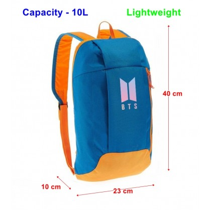 BTS Lightweight Sport Hiking Travel Backpack (10L)