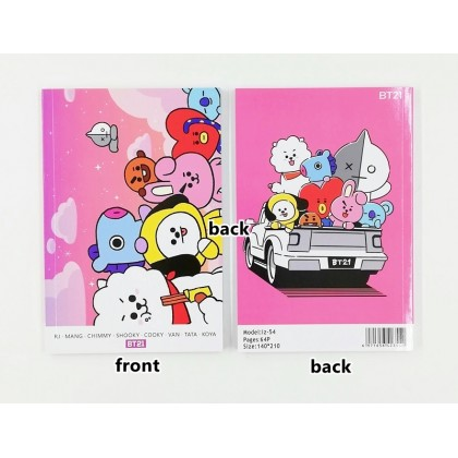 BT21 Notebook 120pg