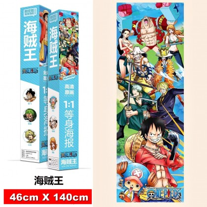 One Piece Full Height Poster 140cm x 46cm Anime Wallpaper 1:1 Luffy