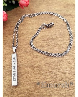 KPOP BTS Stainless Steel Necklace