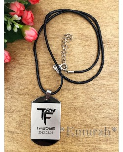 TFBoys Square Necklace