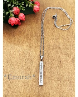 KPOP Song Joong Ki Stainless Steel Necklace