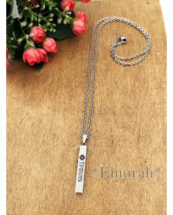 KPOP TFBoys Stainless Steel Necklace