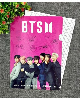 BTS A4 Size Clear File Folder-C