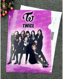 TWICE A4 Size Clear File Folder - B