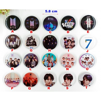 BTS Button Pin (2PCS) Large 58 mm