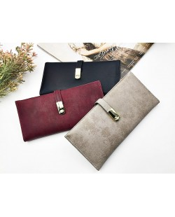 Korean Style Women Fashion Simple Long Purses