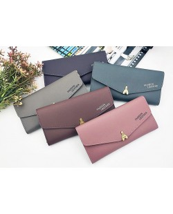 Korean Simple Women Fashion Long Purses