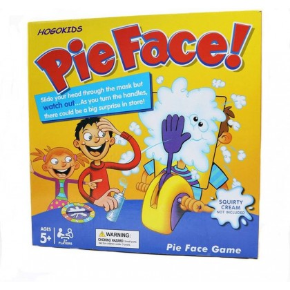 Running Man Cream  Pie Face Toy Game Funny Family