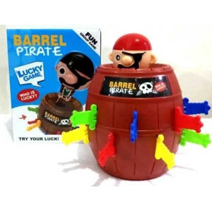 Running Man Pop Up Pirate Lord Barrel Roulette Toy Game